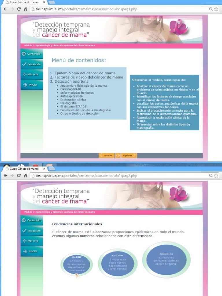 Módulo 1 y 2 Curso de Mama - UVM