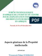 Ouedrago+aperçu+Propriété+intellectuelle