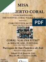 Concierto Coral Gaudia Vitae 12-06-2010-Programa