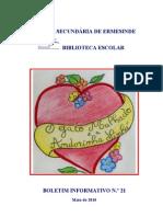 Boletim Informativo da Biblioteca da Escola Secundária de Ermesinde - N. 21 -  Maio de 2010