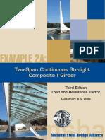SteelBridge DesignHandbook Ex2A Composte 2 Span Continious