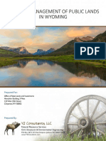 Study On Public Lands on Wyoming