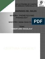 ABERTURA VOCÁLICA
