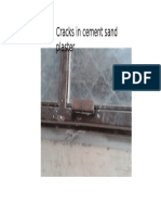 Cracks in Cement Sand Plaster