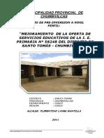 PIP mejoramiento de La Oferta rfucativa de IE 56248