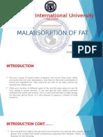 Malabsorpton of Fats