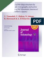 Journal of Seismology ISSN 1383-4649