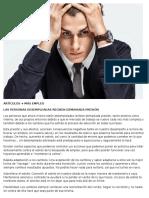 LAS PERSONAS DESEMPLEADAS RECIBEN DEMASIADA PRESIÓN