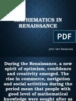 Mathematics in Renaissance
