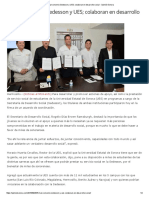26/09/16 Firman convenio Sedesson y UES; colaboran en Desarrollo Social - Opinión Sonora