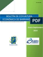 Boletín de Coyuntura Económica de Barranquilla (Enero-septiembre 2014) (Camára de Comercio de Comercio)