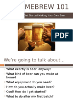 Planning your homebrewery