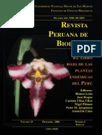 Libro Rojo de Las Plantas Endemicas Del Peru