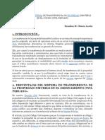 Desventajas Del Sistema de Transferencia de Propiedad Inmueble en El Código Civil Peruano - Brandon M. Olivera Lovón
