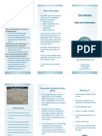 City of Clearlake street fact sheet