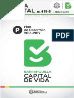 Gaceta Distrital No. 419-5 (Alcaldía Distrital de Barranquilla)