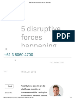 5 Disruptive Forces Happening Right Now - W3 Digital