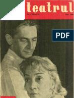 Revista Teatrul, nr. 5, anul V, mai 1960
