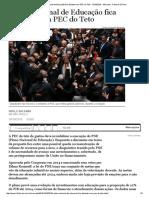 Análise_ Plano Nacional de Educação Fica Distante Com PEC Do Teto - 16-10-2016 - Mercado - Folha de S