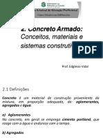 Aula 2 - Concreto Armado - Generalidades Materiais