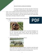 Flora Dan Fauna Langka Di Indonesia