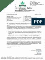 Modifications in the Investor Presentation [Company Update]