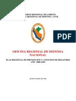 Sistema Regional de Defensa Civil .Loreto.