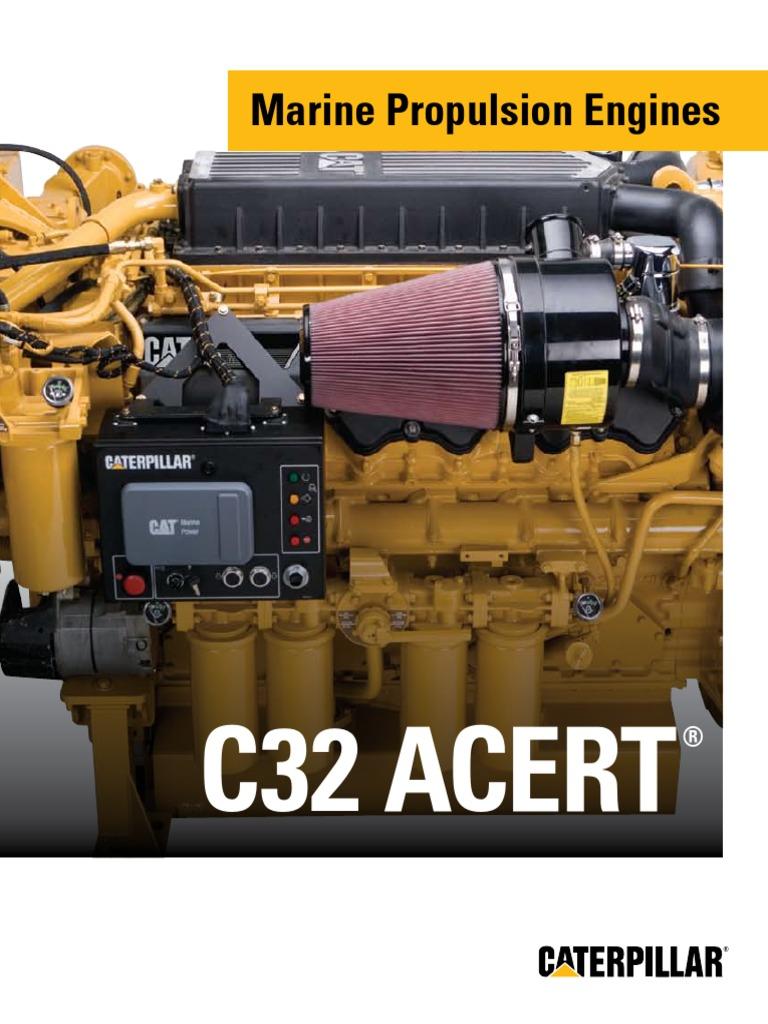 Cat C32 ACERT Marine Engine   Marine Propulsion   Engines