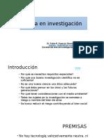 Ética en Investigacion