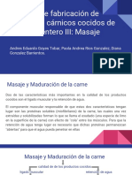 Proceso de Fabricación de Productos Cárnicos Cocidos de Músculo Entero III- Masaje
