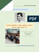 Portafolio docente educacion primaria