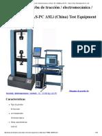 Máquina de Prueba de Tracción _ Electromecánica _ Vertical - 50 - 20 000 Kg _ as-PC - ASLi (China) Test Equipment Co