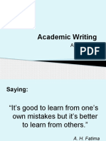 Academic Writing Slides