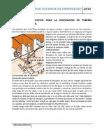 Proceso Constructivo Para La Colocacion de Tubería Sanitaria y Pluvial