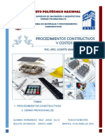 1 Procedimientos Constructivos y Obras Provicionales.