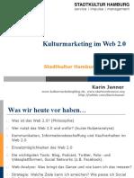 Schulung Web 2.0 im Kulturmarketing, Stadtkultur Hamburg