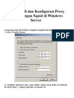 Cara Install Dan Konfigurasi Proxy Server Dengan Squid Di Windows Server