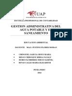 Gestion Administrativa Del Agua Potable y El Saneamiento