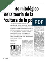 el efecto mitológico de la teoría de la cultura de la pobreza
