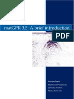 MatGPR Brief Introduction