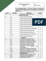 Relación de Documentos Anexo 2