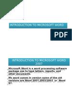 Lect 4 Word Basics