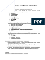 Persyaratan Kompetensi Kepala Puskesmas Dan Staff