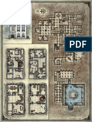 image relating to Storm King's Thunder Printable Maps referred to as Curse of Strahd Deathhouse Participant Map