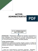 Claes de Acto Administrativo