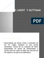 Charla Escala de Likert y Guttman..