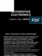 Automotive Electrical & Electronics