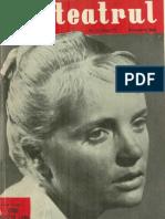 Revista Teatrul, nr. 11, anul V, noiembrie 1960