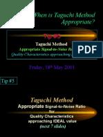 Why Taguchi Method Tip 5
