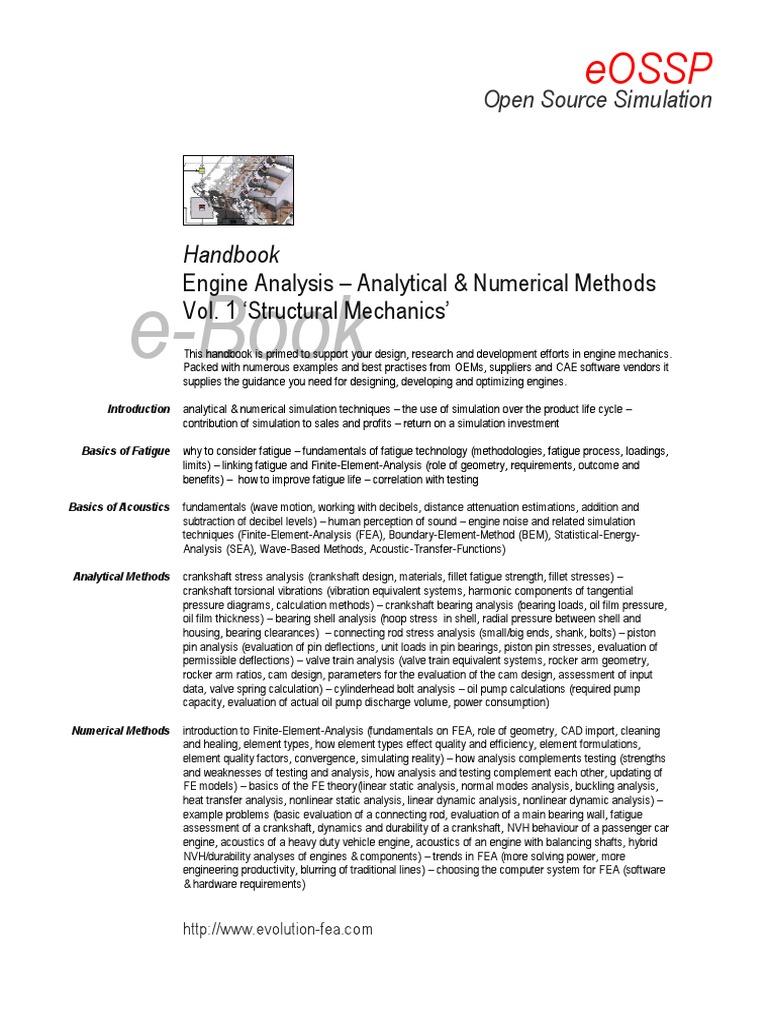 EOSSP Handbook on Engine Analysis | Finite Element Method | Fatigue